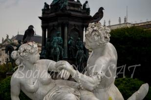 Maria Theresien Platz - Fantana Triton si Naiada - detaliu